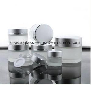 Kosmetische Kruiken van de Room van het Glas van de Mond van de luxe de Brede