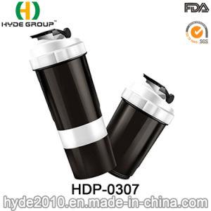 2018년 새로 500ml BPA는 해방한다 PP 콘테이너 (HDP-0307)를 가진 플라스틱 단백질 셰이커 병을