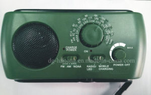 2018 Más Vendidos de emergencia multifunción dinamo solar AM/FM/Moaa Weather Radio con linterna LED