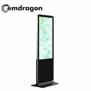 전시 옥외 광고 점화 인치 사각 접촉 스크린 LCD 모니터 LCD 디스플레이를 광고하는 좁은 날의 사면 지면 대 디지털 Signage 65 인치 OEM/ODM LCD