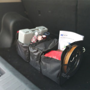 Asiento plegable de multifunción Organizador de la bolsa de almacenamiento de verificación