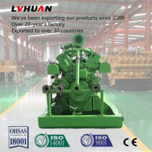 El uso de gas de vertedero la potencia del motor generador de biogás