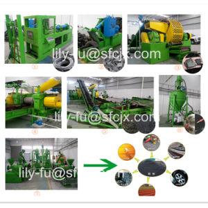 Fábrica de reciclagem de pneus, Pneu Usado Máquina triturador, resíduos retalhados dos pneus