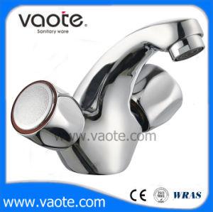 二重ハンドル亜鉛ボディ洗面器のコックかミキサー(VT61303)