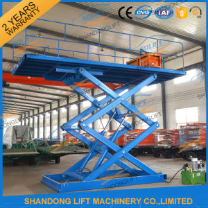 Carro hidráulico estacionário plataforma de elevação em tesoura / Carro mesa de elevação