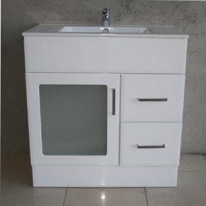 Glatt-Weißer angestrichener MDF-Badezimmer-Schrank V-65