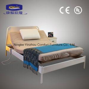 특대 조정가능한 침대 박달나무 나무로 되는 판금 전기 침대