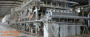Administração da máquina de papel Papel Kraft com camisa de Teste da máquina de papel ondulado