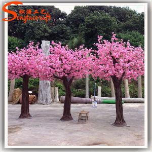 Árvore de flor de pêssego artificiais para decoração no comércio por grosso