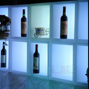 Decoração LED Recarregável LED alterando a exibição de cores balde de gelo em cubos
