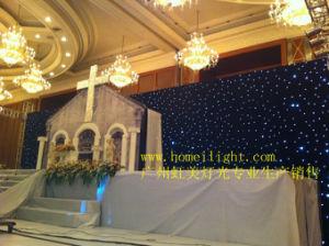 結婚式の段階のEvnetsの背景幕ショーのための4m * 6mの白LEDの星の布