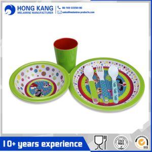 Logotipo personalizado vajilla ecológica multicolor de la placa de cena