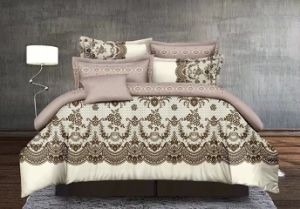 Microfiber Bedsheeのポリエステル寝具、羽毛布団カバーセット