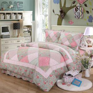 純粋な綿の印刷の花の4部分の寝具セット