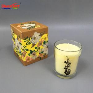 Klassische freie duftende Glasglas-Kerze mit kundenspezifischem Kasten