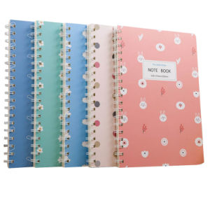 Capa dura espiral com notebook diário personalizado, livro de papel