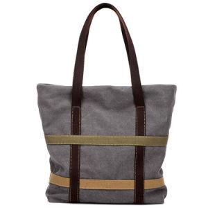 Borsa moderna delle donne di svago del sacchetto di acquisto della tela di canapa delle signore di stile