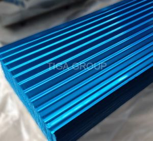 Anti Corrossion couleur ondulations en acier galvanisé recouvert de feuilles de toit