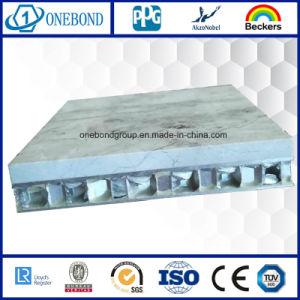 Surface de pierre en fibre de verre Panneau alvéolé pour la décoration