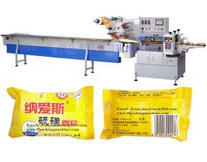 Fabricante de jabón de venta directa de flujo horizontal de la máquina de embalaje