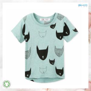 파란 색깔 아기 의복 0 목 신생 t-셔츠
