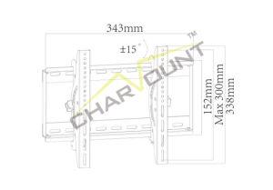 17  - 42  움직일 수 있는 텔레비젼 마운트 (CT-PLB-203)