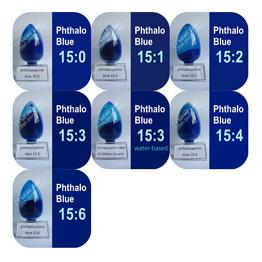 Het organische Blauw van het Pigment, Phthalocyanine Blauw