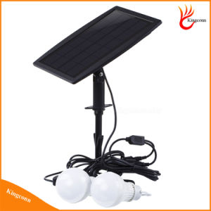 6V太陽電池パネル2球根が付いている動力を与えられた太陽LEDの球根太陽屋外ライト