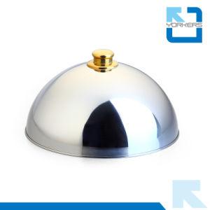 Nuovo coperchio dell'alimento della cupola dell'acciaio inossidabile di stile & coperchio di piatto di figura rotonda