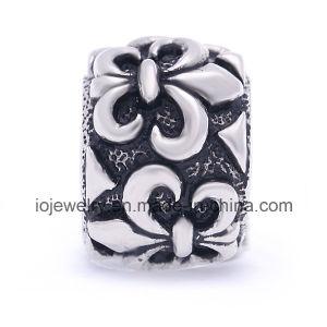 Vintage de acero inoxidable el encanto de patrón de cordones de separador