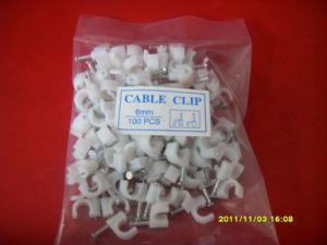 Stahlnagel-Plastikhalter-Klipps verwendet für Festlegung-Draht