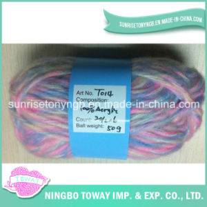 Personalizado Pintado extravagante Mohair Lã Acrílico Mão Knitting Yarn (T014)