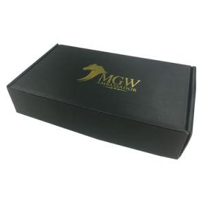 Customized hot stamping Silver Pressionado Imprimir vestido de papelão Caixa de transporte