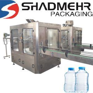 유리병 음료 충전물 기계