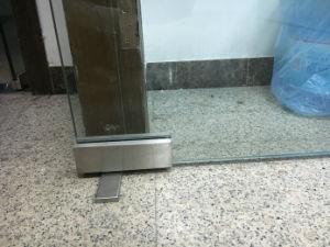 Conexão de Patch Hidráulica Inferior escovado para porta de vidro