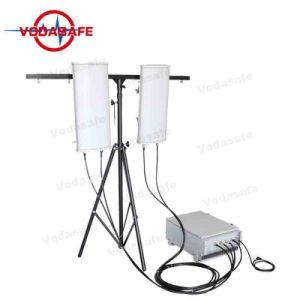 Nas zonas residenciais de alta qualidade Socador Bloqueador Uav para venda de potência de saída total de 300W; o raio de cobertura 50-150m3g, 4G LTE, Wi-Fi, Bluetooth, GPS o sistema de bloqueio da prisão de alta potência