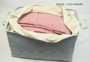 Frais et les draps de coton à rayures Boîte de rangement boîte pliable Baina Faisceau de boîte de rangement vêtements Accueil Multi-Use panier de stockage
