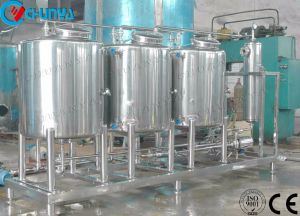 De Melk die van het Roestvrij staal van de Tank van de opslag Tank voor het Systeem van de Reiniging RO van het Water mengen