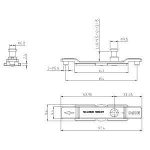 Mehrpunktverschluss-Rod-Steuertür-Verschluss für Seite-Gehangenes Fenster