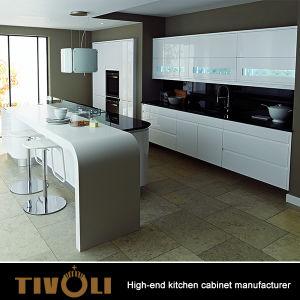 Polijsten de Witte Keukenkasten van de melk met 2 PAC het Beëindigen van TV-0766