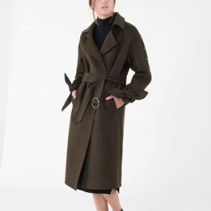 O inverno Senhoras Camada trincheira Cashmere Belted revista para mulheres