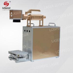 Mini máquina de impresión la impresora láser de grabado de materiales metálicos marcando