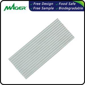 White Eco-Friendly Recurso biodegradáveis e beber palhetas de papel
