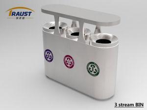 Clasificados de acero inoxidable Basura Papelera de reciclaje