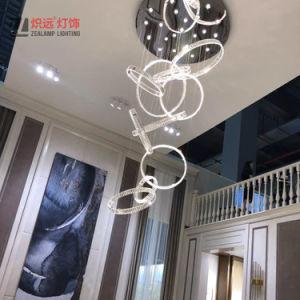 Настраиваемые под руководством подвесной светильник Декоративное освещение проекта хрустальной люстрой и