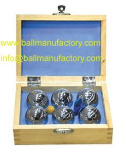 Ocio alimentación Metal Petanca la petanca juegos de bola 6 73mm/720gsm con caja de madera