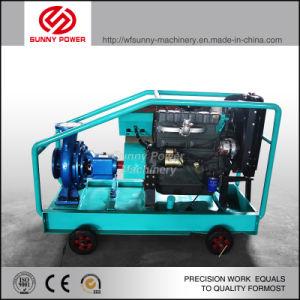 Motor diesel bomba de agua con Movalbe tráiler para la irrigación agrícola