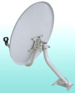 Offset de banda Ku 60cm antena parabólica de televisão por satélite no exterior