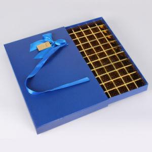 Het aangepaste Vakje van de Chocolade van de Gift van het Document van het Karton van de Luxe Gouden Verpakkende