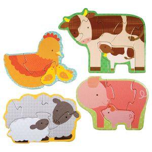 Bauernhof-Baby-Tierkleinkind-Vorschulpuzzlespiel-Anfänger-Puzzlespiel